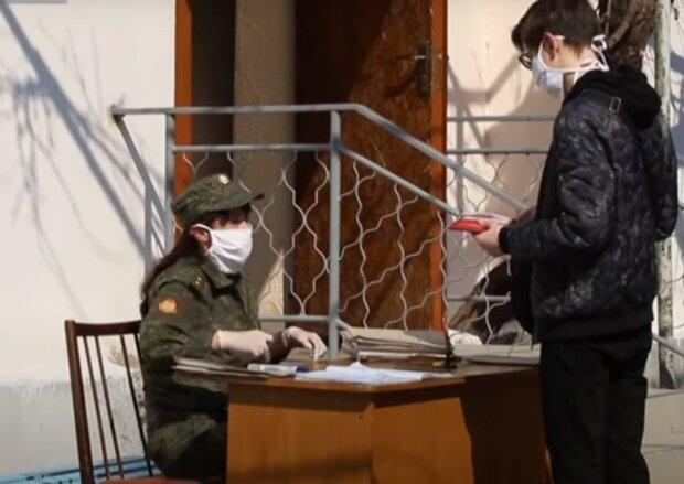 военкомат, скриншот из видео