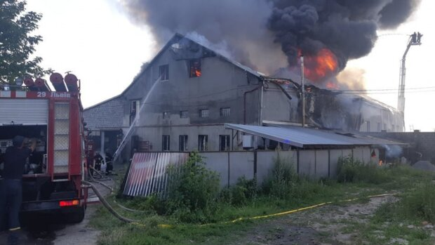 Пожар во Львове, фото dsns_telegram