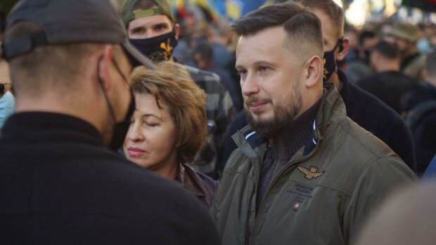 Андрій Білецький на марші УПА в Києві