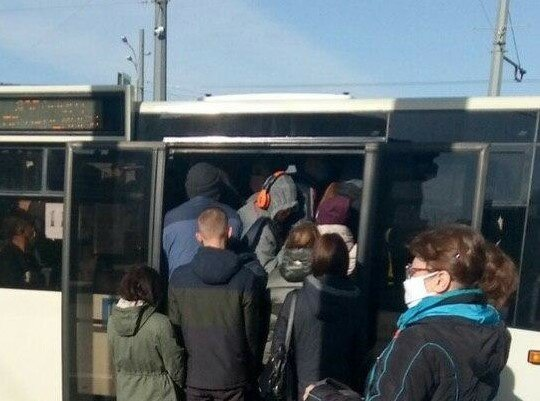транспорт у Харкові, джерело: Телеграм