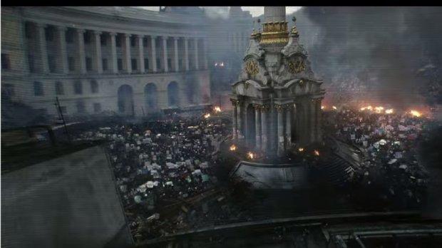 Джордж Клуни на украинском Евромайдане спасает человечество