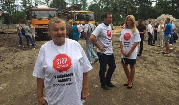 Активисты «победили» титушек и незаконную стройку в Ирпене