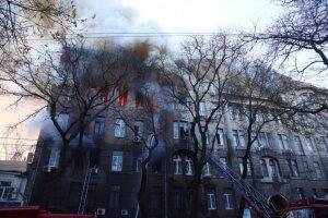 Пожар в одесском колледже, Думская