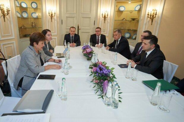 """Зеленський неочікувано зізнався про власні стосунки з очільницею МВФ: """"Георгієва, як завжди… """""""