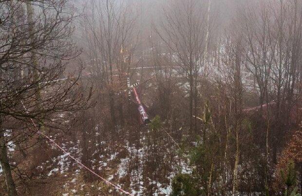 Крушение вертолета в Польше, фото:wiadomosci.wp