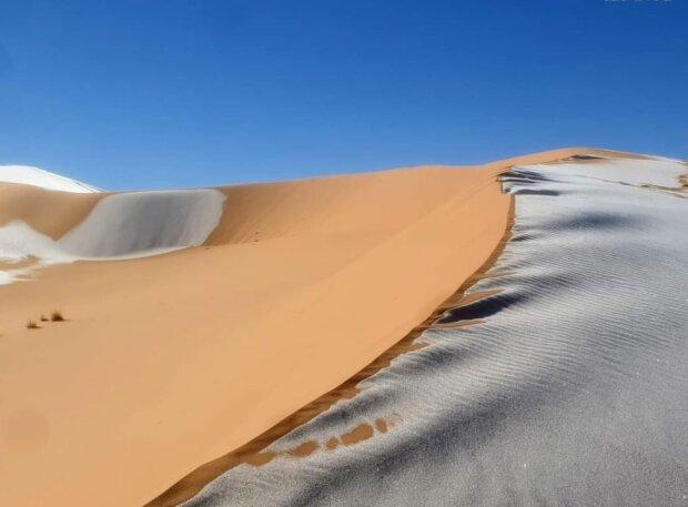 У Сахарі випав сніг, фото Twitter