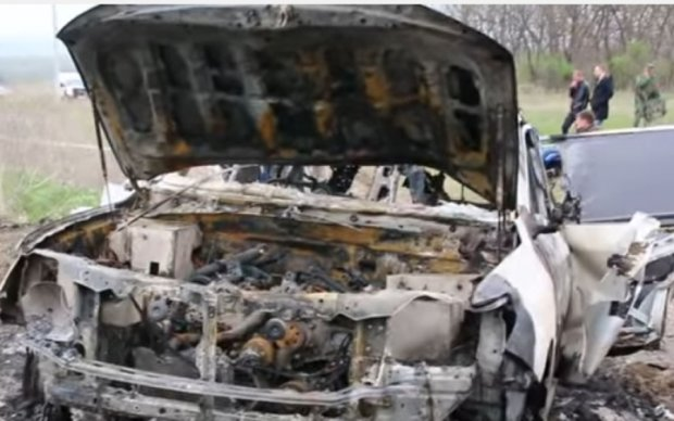 Появились первые кадры с места гибели наблюдателя ОБСЕ