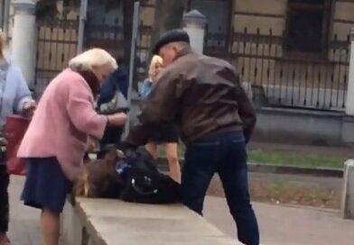 Избиение в Полтаве, скрин из видео