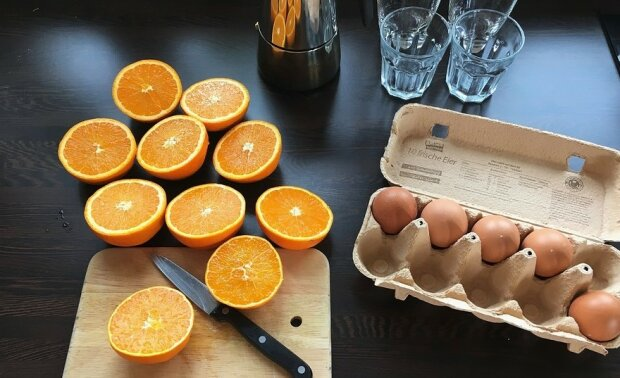 Яйца и апельсины, фото: Pixabay