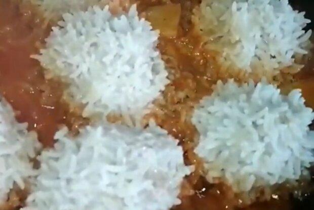 """Мясные """"рафаэлки"""", кадр из видео"""