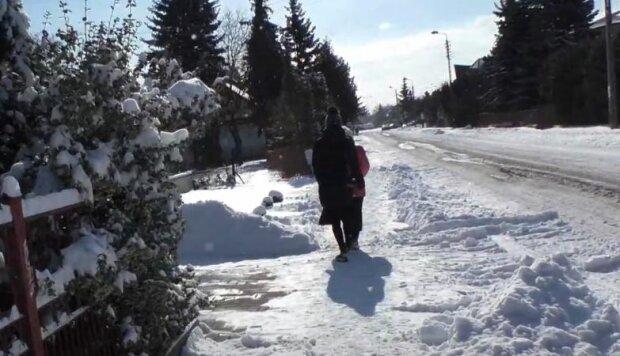Снежная погода, скриншот: YouTube
