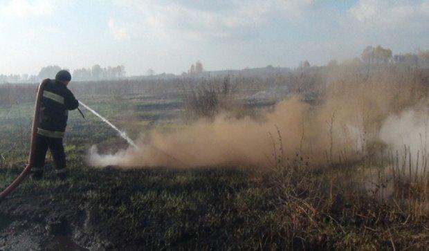 Навколо Києва загорілись торф'яники