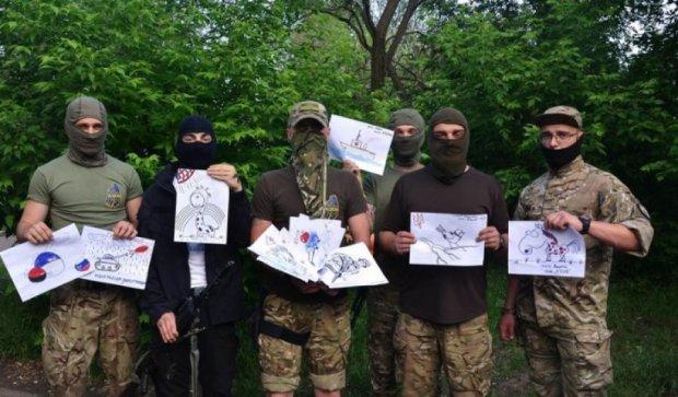Бійці з фронту привітали маленьких українців