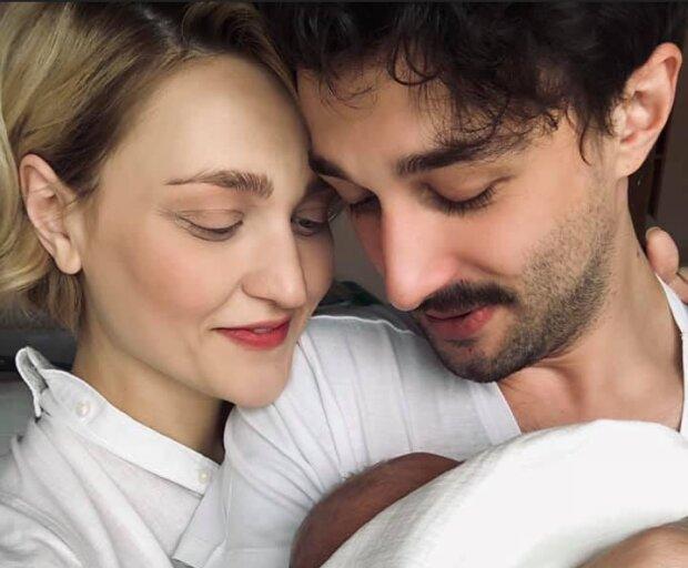 Вера Кекелия с мужем и новорожденным сыном фото: Instagram