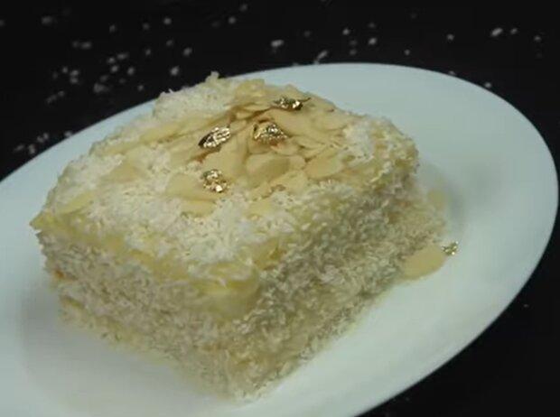 Кокосовий міні торт, скріншот: YouTube