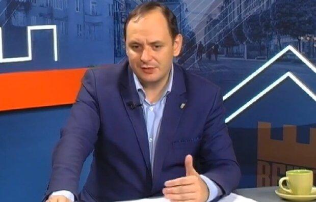 Руслан Марцинкив в эфире ТРК ВЕЖА, кадр из видео: Facebook