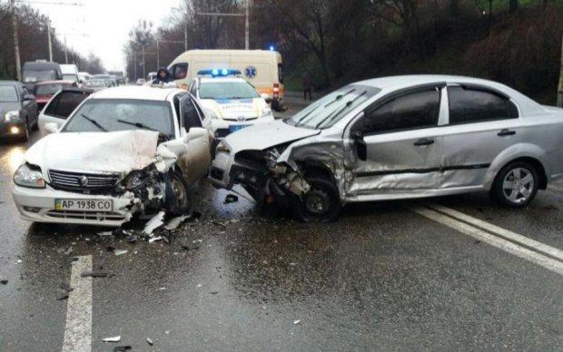 Форсаж по-киевски: водитель ощутил себя героем фильма и пошел на таран