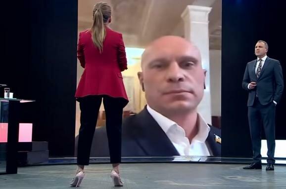 Кива в ефірі пропагандистського каналу РФ, скрін
