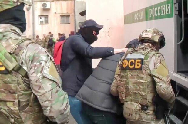 Задержание в Крыму, скриншот: YouTube
