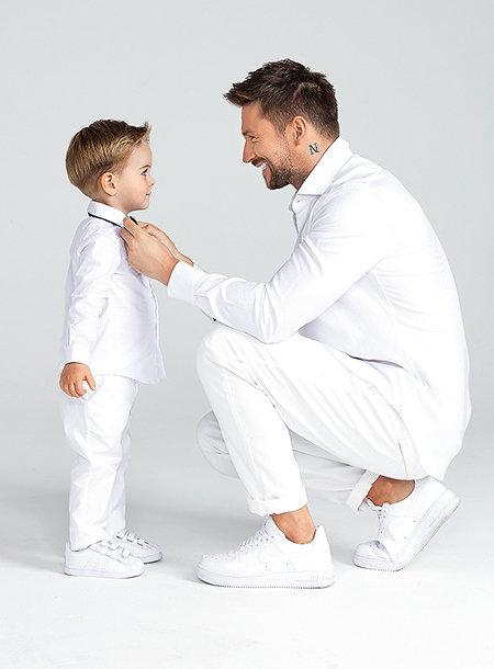Сергій Лазарєв з сином