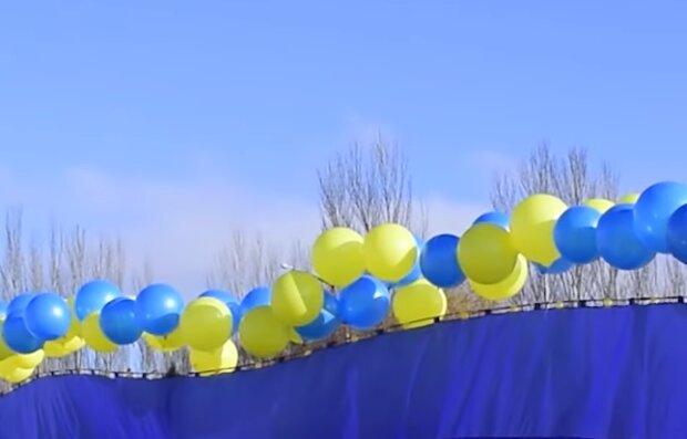Запуск украинского флага, фото: ООС