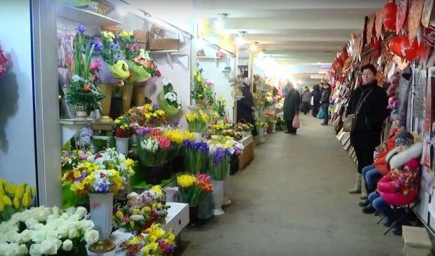 Цветочный рынок, скрин из видео
