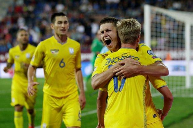 Сборная Украины сделала прыжок в обновленном рейтинге ФИФА