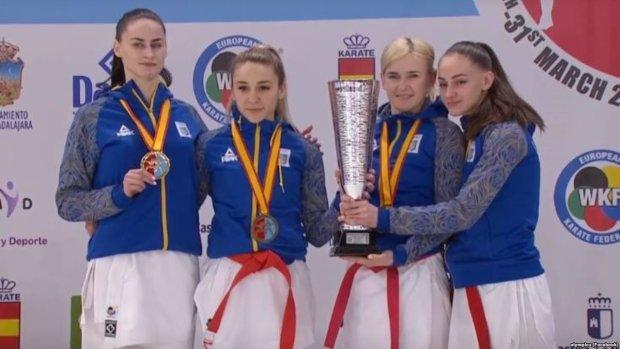 Женская сборная по карате покорила Европу