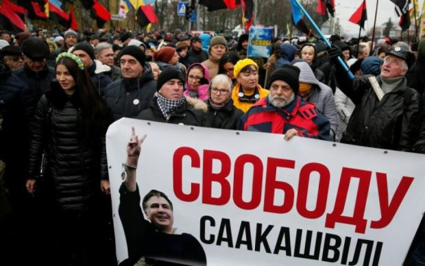 Мітинг у Києві: дружина Саакашвілі звернулася до українців