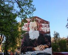 Мурал «Михаил Грушевский» на ул. Сечевых Стрельцов в Киеве