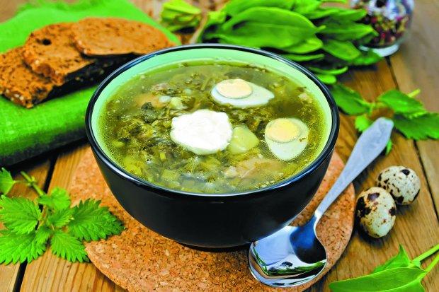 Зелений борщ зі щавлем: домашній рецепт