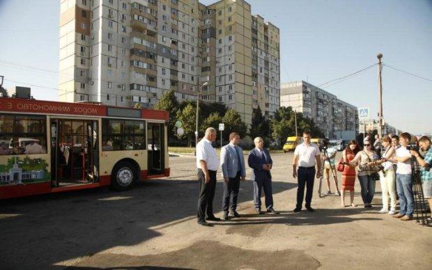 Украинский троллейбус побил рекорд