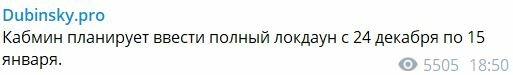 Скріншот Telegram