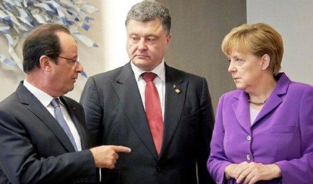 Олланд і Меркель за відведення зброї на Донбасі
