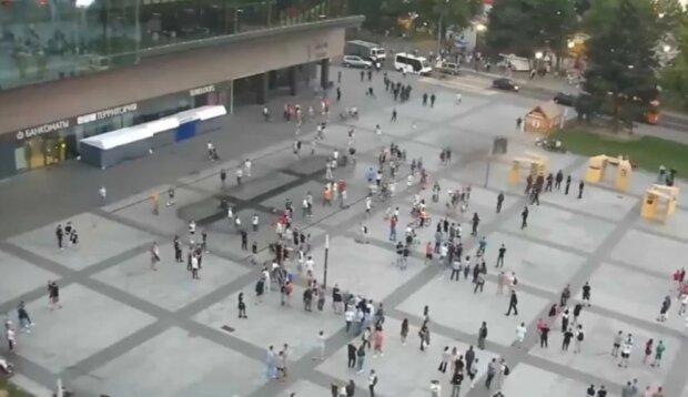 Мітинг у Могильові, скріншот відео