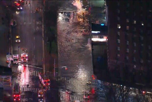 Потоп в Нью-Йорку, скріншот відео