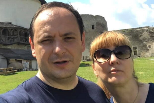 Руслан Марцинкив с женой, фото: Facebook
