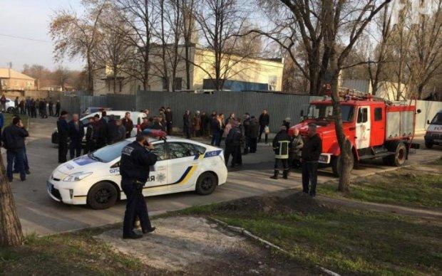 Полицейские устроили взрыв в центре Запорожья