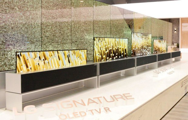 LG представила гибкий телевизор OLED TV R, который скручивается в трубку