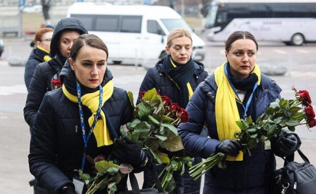 Церемония прощания, фото скриншот с facebook