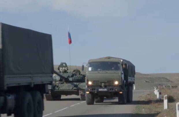 Военные РФ в Нагорном Карабахе, фото: кадр из видео