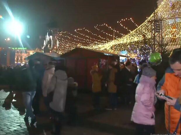 Новий рік 2021 в Україні, скріншот відео