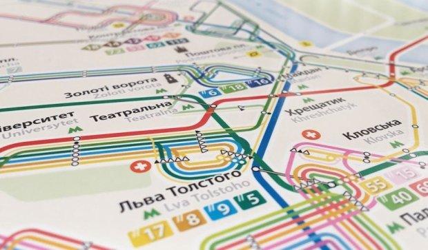 Дизайнер подарил киевлянам полнейшую транспортную карту столицы
