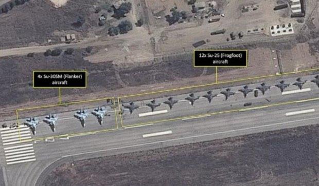 Супутник зафіксував російські військові літаки в Сирії (фото)