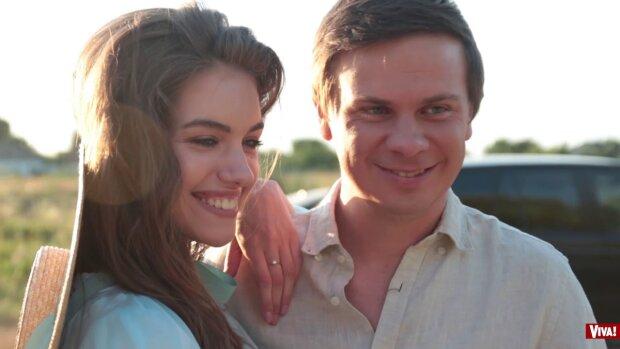 Дмитрий Комаров с женой Александрой Кучеренко, фото: Instagram