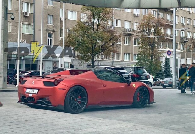"В Харькове заметили шикарную  Ferrari за 7 млн: ""Коляска Кернеса?"""