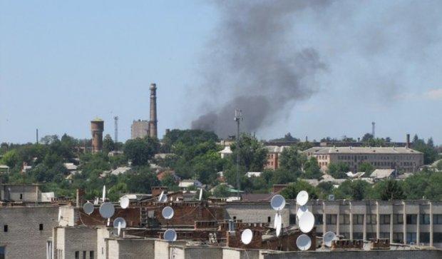 В Жмеринке загорелась ТЭЦ (фото)