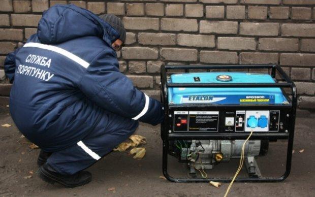 Авдеевку обеспечивают электроэнергией с помощью генераторов