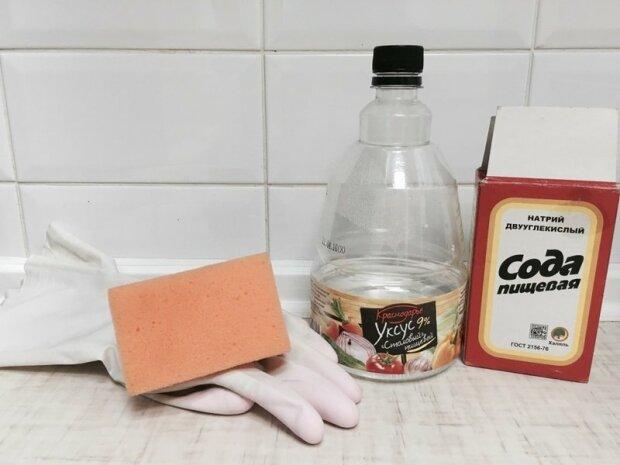 Сода и уксус, фото из открытых источников