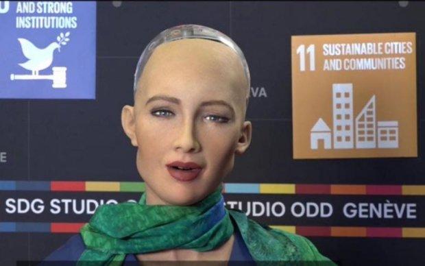 Робот Софія дала перше інтерв'ю